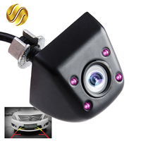 Car Rear View Camera Night Vision With Infrared 170 Degree Mini Waterproof Parking Assistance Black Chrome