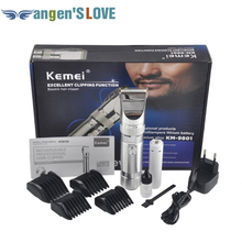 Hair Clipper Aluminum Alloy Rechargeable Electric Hair Trimmer Hair Removal Hair Cutting Machine for Man Children KM-9801