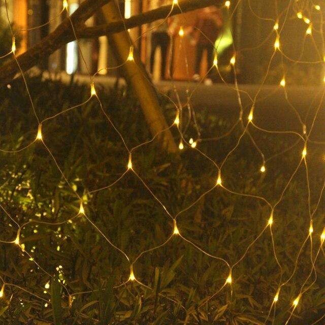 LED Net light 3*2M 6*4M LED Mesh Fairy String Light Christmas 110 220 V Party Wedding New Year Garland Outdoor garden Decoration 1