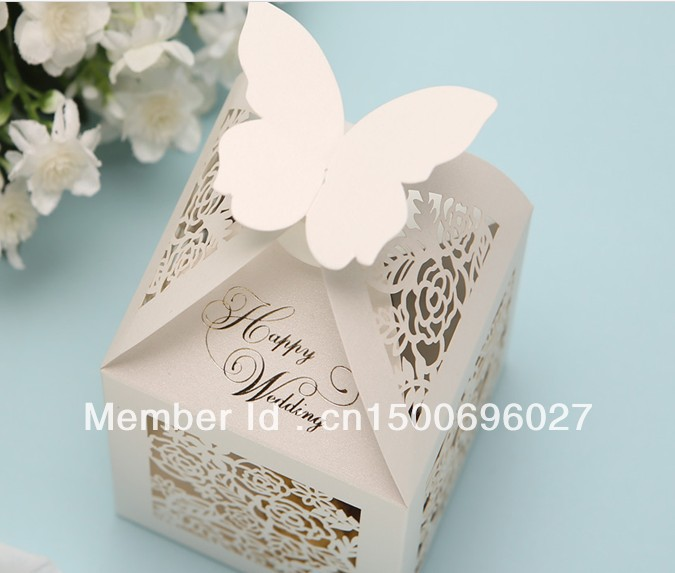 Whole 100pcs Ribbon Wedding Favor Cake Bo Party Gift