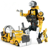 Трансформация Робот Автомобиль Металлический Сплав Инженерная строительная машина грузовик сборка деформация игрушка 2 в 1 робот детские игрушки подарки