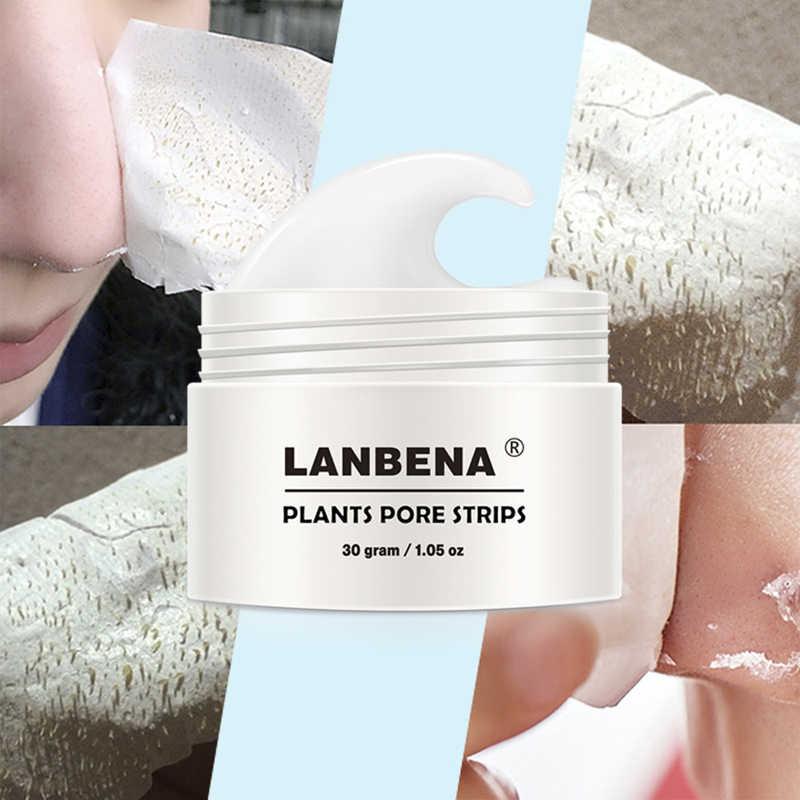 Środek do usuwania zaskórników Lanbena maska nos porów paski czarna maska Peeling leczenie trądziku głęboko oczyszczająca maska do twarzy kontrola oleju pielęgnacja skóry