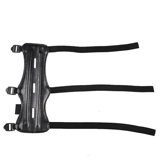 Brazo de Tiro con Arco protección para antebrazo con seguro 3 correas para arco flecha caza tiro accesorios de entrenamiento al aire libre
