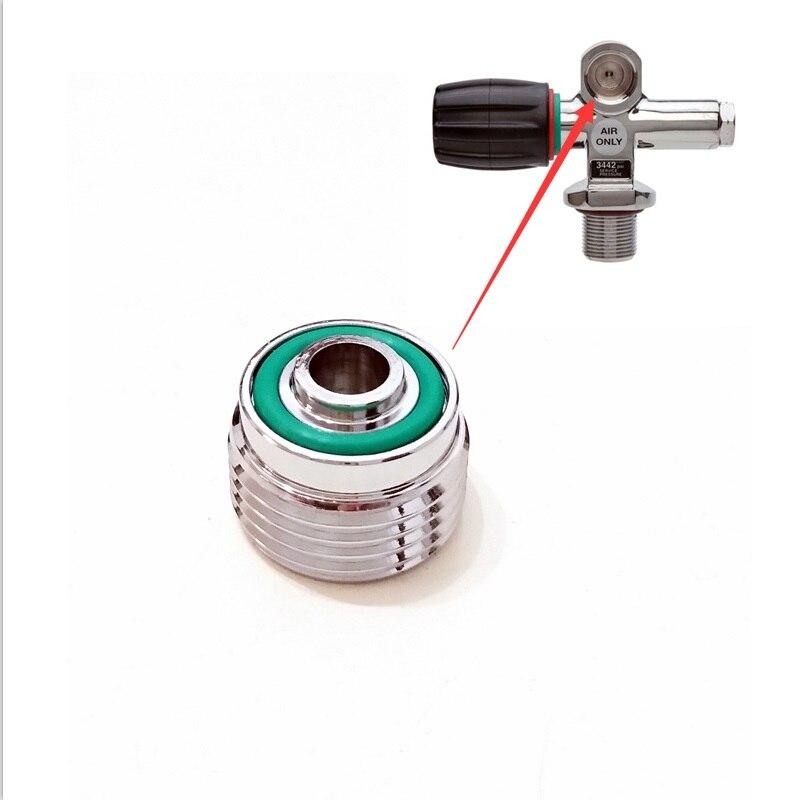 232 Bar Scuba Diving Cylinder Valve DIN Insert-Converts DIN to A Clamp / Yoke Баллон для дайвинга