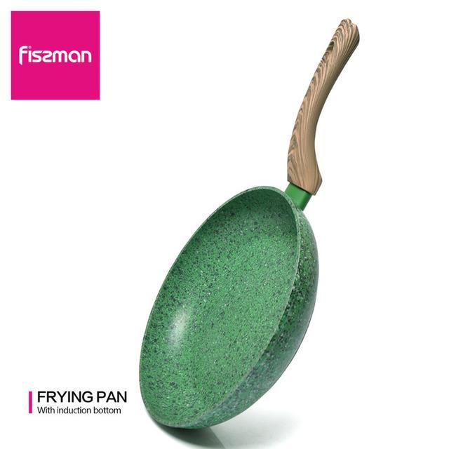 FISSMAN 프라이 팬 3 레이어 비 스틱 대리석 코팅 단조 알루미늄 말라 카이트 시리즈 유도 밥솥