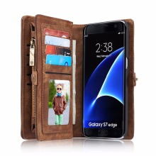 CaseMe Luxury Wallet Case for Samsung Galaxy S8 Plus Case Flip Leather Phone Capinha Coque Cover for Samsung Galaxy S7 edge Case