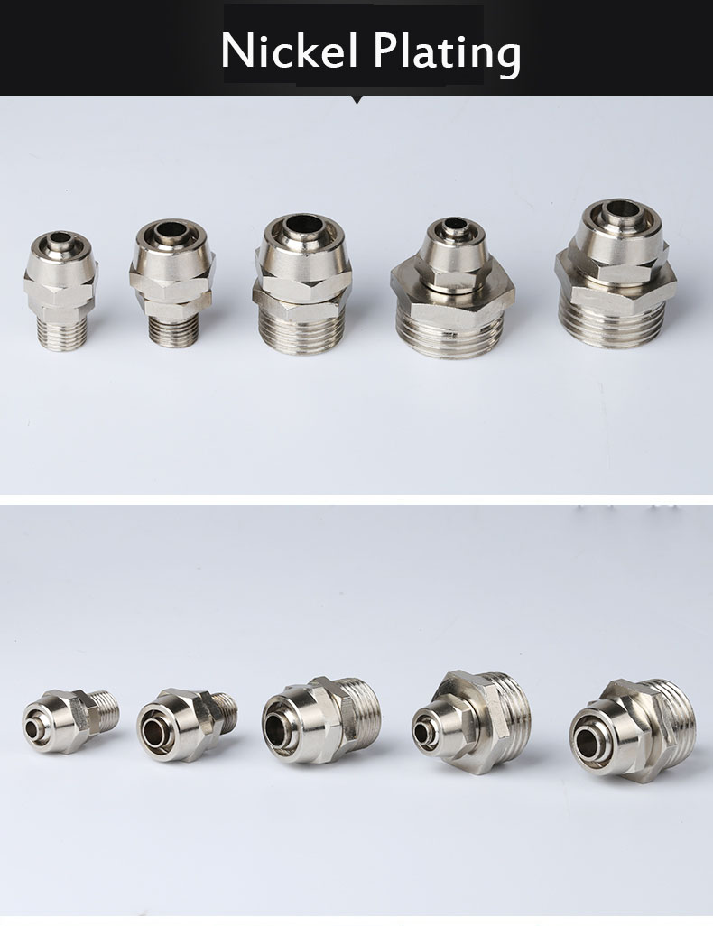 2PCS PC 12-03 3/8 Male Thread PC 12-04 1/2 Male Thread to OD 12mm Air Hose Tube Quick Coupler Coupling Fitting 2 12