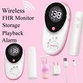 NEW Wireless Fetal Doppler Round Large Screen 50m Pairing Range Safty Prenatal Monitor Host Probe Seperately