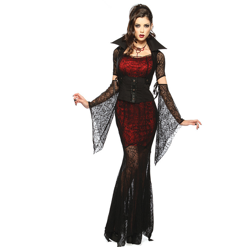 <font><b>Halloween</b></font> Costume <font><b>Sexy</b></font> Vampire Costume Women Masquerade Party Cosplay Gothic <font><b>Halloween</b></font> <font><b>Dress</b></font> Vampire Role Play Clothing Witch image