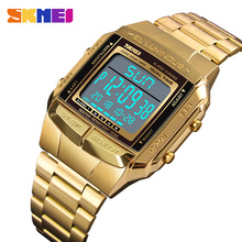Skmei Electronic LED Digital Watch Men Luxury Brand Mens Sports Watches Man Waterproof Golden Stainless Steel Relogio Masculino