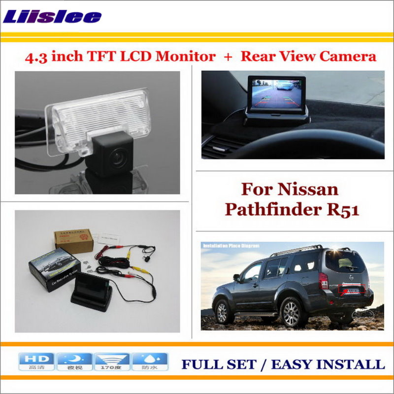Liislee For Nissan Pathfinder R51 2004~2012 Car 4.3 Color LCD Monitor + Car Rear Back Up Camera = 2 in 1 Park Parking System шкаф купе евростиль патриция 2