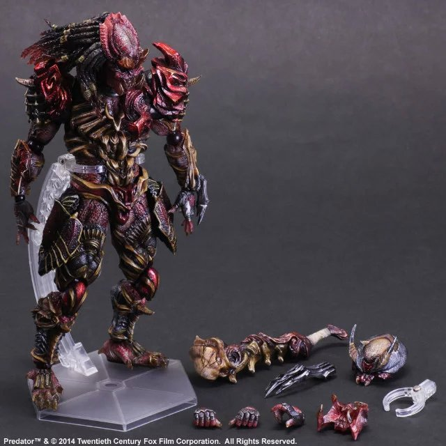 Play Arts KAI Alien VS. Predator Alien Hunter  PVC Action Figure Collectible Model Toy 27cm KT2113 predator action figure master wolf predator anime movie predator vs alien collectible model toy pvc 200mm