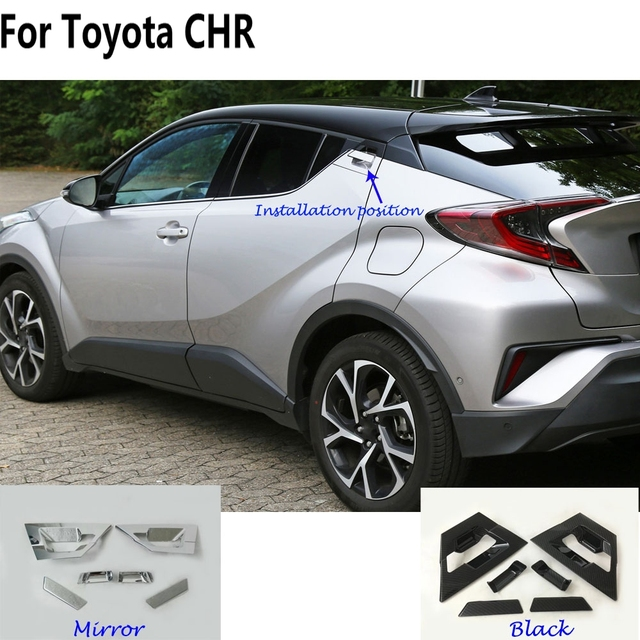 For Toyota C-HR CHR 017 2018 car cover Styling detector frame panel lamp trim accessories rear back door handle+bowl 6pcs