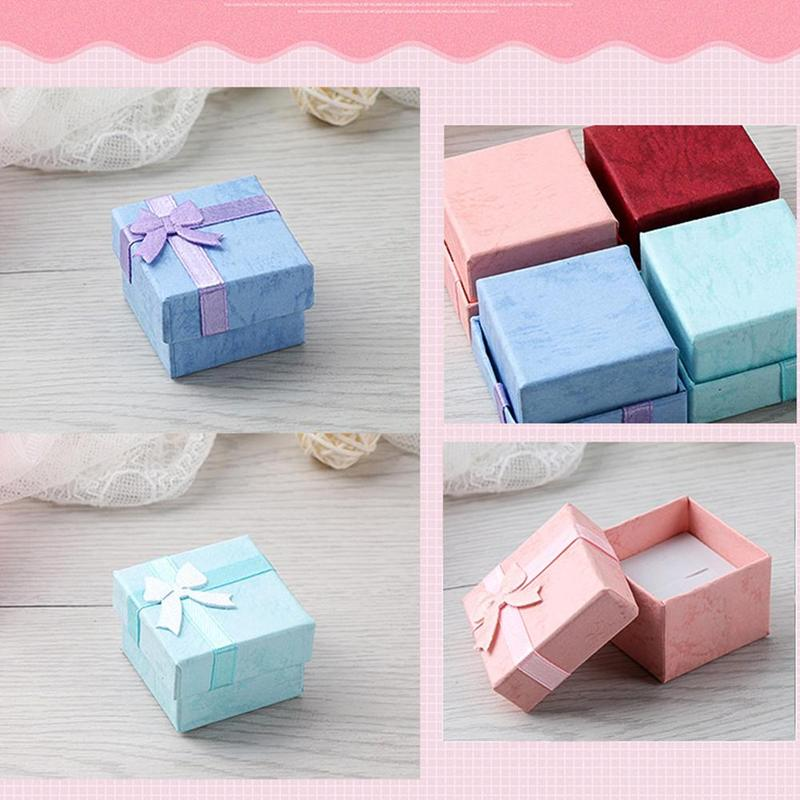 4 Colors 1pc Fashion Colorful 4*4cm Jewery Organizer Box Rings Storage Cute Box New Small Gift Box For Rings Earrings Bracelets