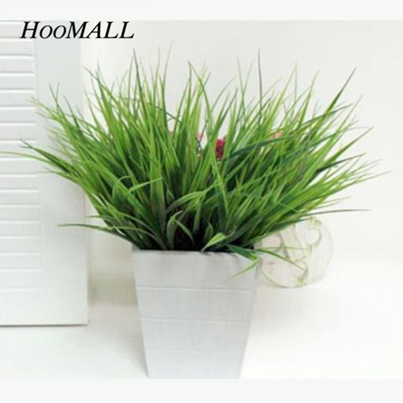 Hoomall 10PCs Plastic Grass Flowers Home Decoration New Year's Eve Flower Pots New Year's Decoration Table Decor Cheap No Pots