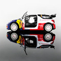 Diecast Metal Model Toys 1:26 DS3 WRC Sound Light Pull Back Racing Car For Collection