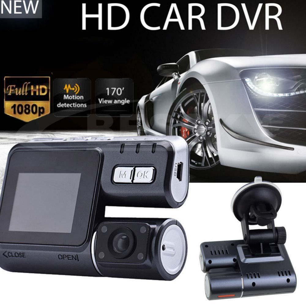 2017 New HD 1080P Dual Lens Car Vehicle DVR Camera Dashboard Video Record G Sensor Camera