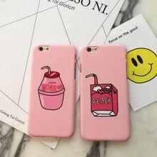 Matte Pink Peach Drink Bottle Phone Case for Iphone 6 6S 6plus 6sPlus 5 5S SE