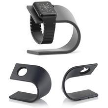 U tipi akıllı izle tutucu Metal Kickstand Cradle alüminyum şarj şarj standı Dock İstasyonu braketi Apple watch iWatch için