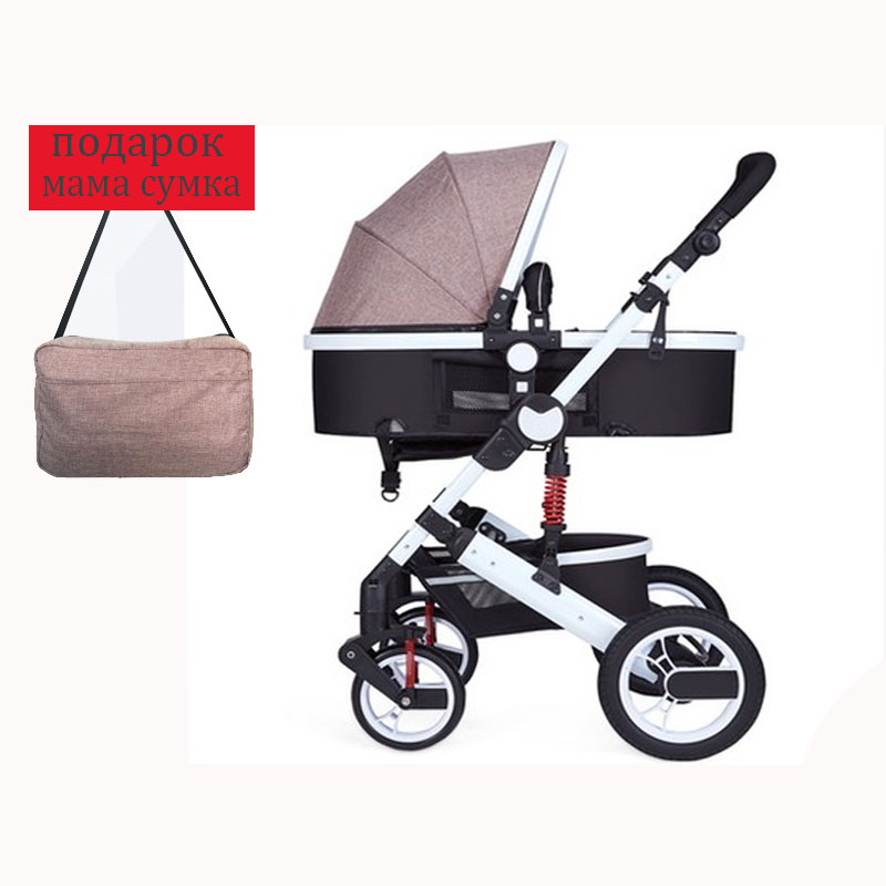 все цены на stroller high landscape can sit or lie shock winter children baby stroller two-way deck trolley Russia Free Shipping