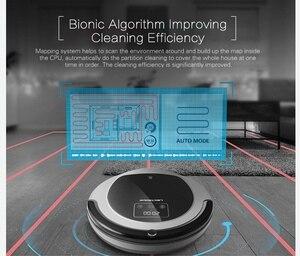 Image 4 - (FBA) LIECTROUX רובוט שואב אבק B6009, מפת ניווט, חכם זיכרון, יניקה 3000 pa, כפול מנורת UV, רטוב יבש לנגב, Wifi App aspirador