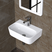 Wall mounted Bathroom wash basin Balcony pool mini small wash basin sink for bathroom hanging basin wx11201010