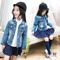 Moda Jeans meninos Crianças casaco outerwear jaquetas de moda infantil para Menino meninas pérolas jaqueta Primavera Outono roupa das crianças
