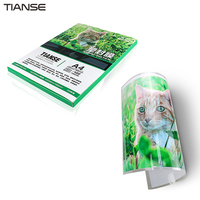 TIANSE Zagęszczony Folii Z Tworzyw Sztucznych A4 Karty 6C Zdjęcie Menu Plastikowa Folia Ochronna Film Na Papier Gumowany Plastikowe Uszczelniania Maszyn
