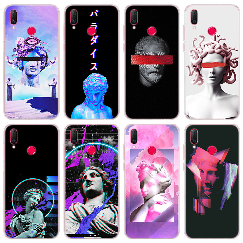 Phone Bags & Cases Cellphones & Telecommunications Medusa Vaporwave Glitch Art Soft Silicone Phone Case For Huawei Honor Y3 Y5 Y6 Y7 Prime Y9 2018 Soft Tpu Case Cover Pleasant To The Palate