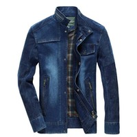 New Fashion Cowboy Jacket Men S Denim Jacket Vintage Spring Autumn Coat Men S Clothing Plus