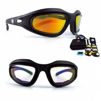 C5 gafas hombres militar gafas sol polarizadas tácticas a prueba de balas  Airsoft esquí de senderismo deporte gafas de tiro db01efdd9623