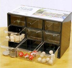 Творческий 9 ювелирных изделий Пластик коробка для хранения мини мусора шкафы решетки Портативный Amall ящик сортировки сетки рабочего офиса