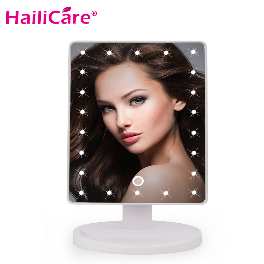 22 LED Touch Screen Light Up Makeup Mirror Professional Vanity Mirror Lights Health Beauty Adjustable Countertop 180 Rotating все цены