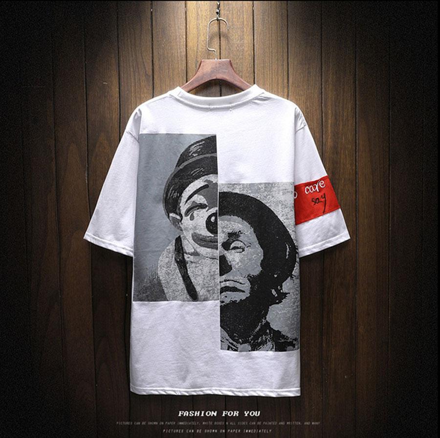FASHION TEES Round Neck Short Sleeve Cotton T-Shirts Printing Pattern Slim Fit Mens Tshirts Hip Hop Tees Summer Male Tops M-5XL 4
