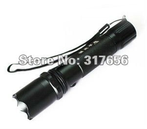 2pcs/lot,salable product,3w high brightness LED flashlight Rechargeable flashligh