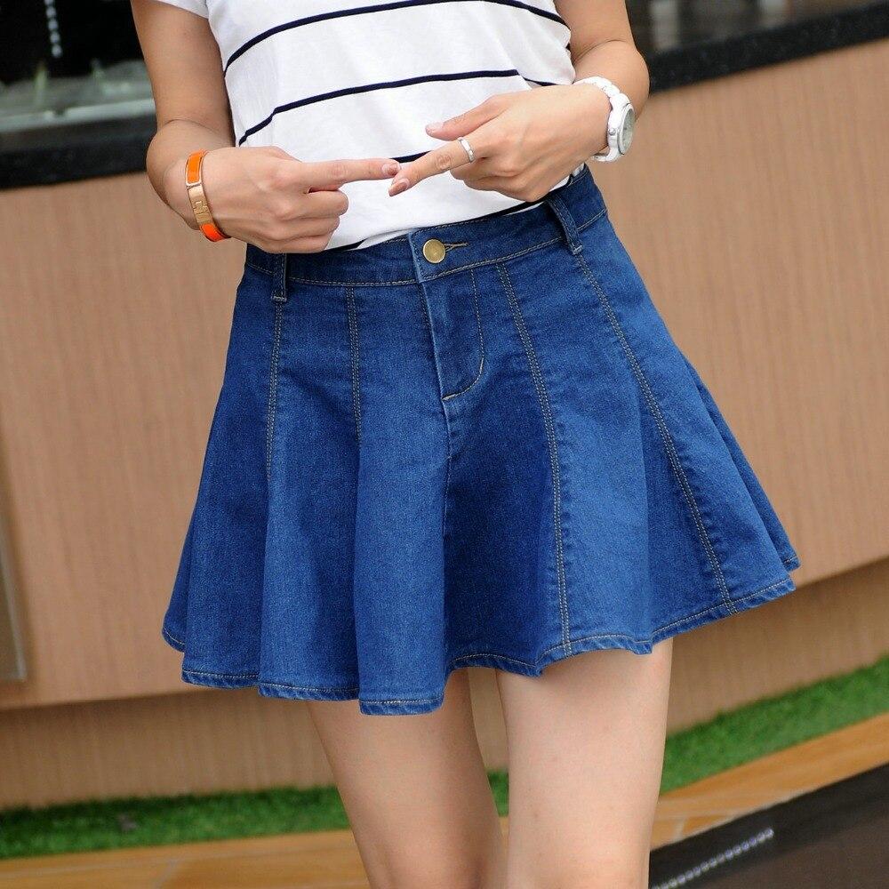 Online Get Cheap Pleated Denim Mini Skirt -Aliexpress.com ...