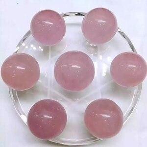 Новые поступления 100% натуральный розовый кварцевый шар сетка семь розовый КВАРЦЕВЫЙ ХРУСТАЛЬНЫЙ ШАР СФЕРА целебный кристалл