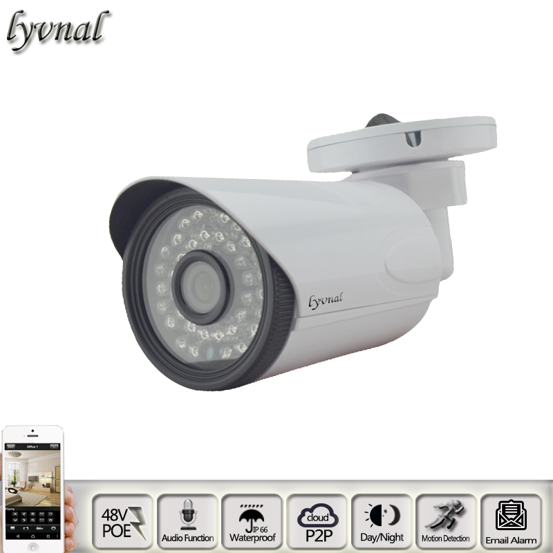 HD 2.0MP Audio IP Camera POE 720p/960p/1080p P2P Plug and Play Night Vision Waterproof Security Network ip Camera SONY IXM323