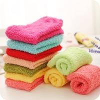 NEW 2018 Thickening Candy Color Full Cotton women kids girl hosiery Winter Keep Warm Towel Floor ladies Socks female 31K26 1 5