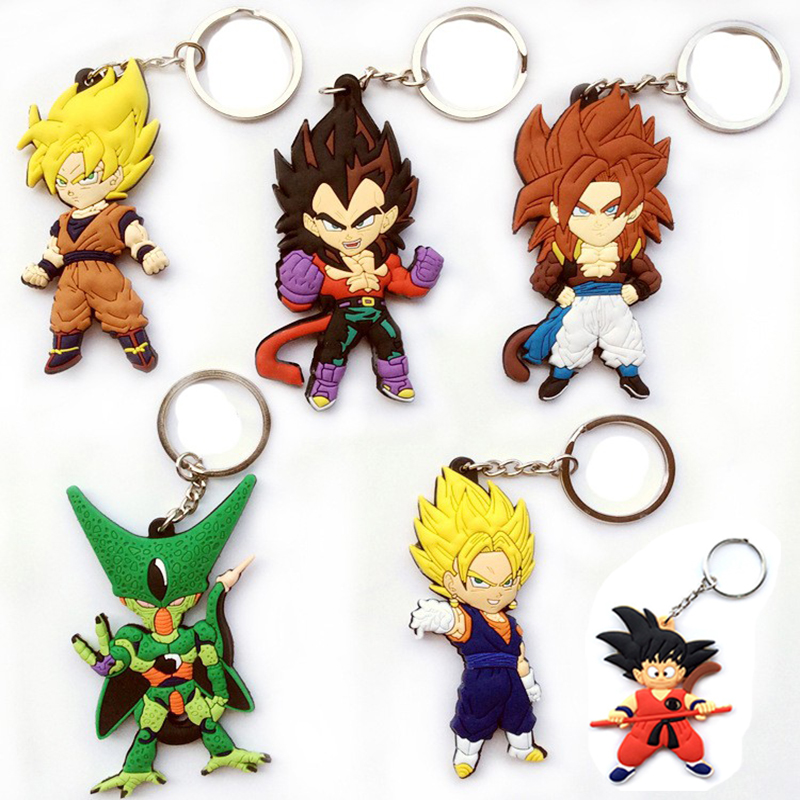 2019 Japan Anime Dragonballs Action <font><b>Figures</b></font> KeyRing car bag pvc keychain <font><b>Dragonball</b></font> z guko figuarts keychain deco toys for kids image