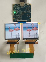 2.9 inch 1440*1440 2K TFT LCD MIPI screen with HDMI to MIPI Dsi driver board for HMD VR AR project
