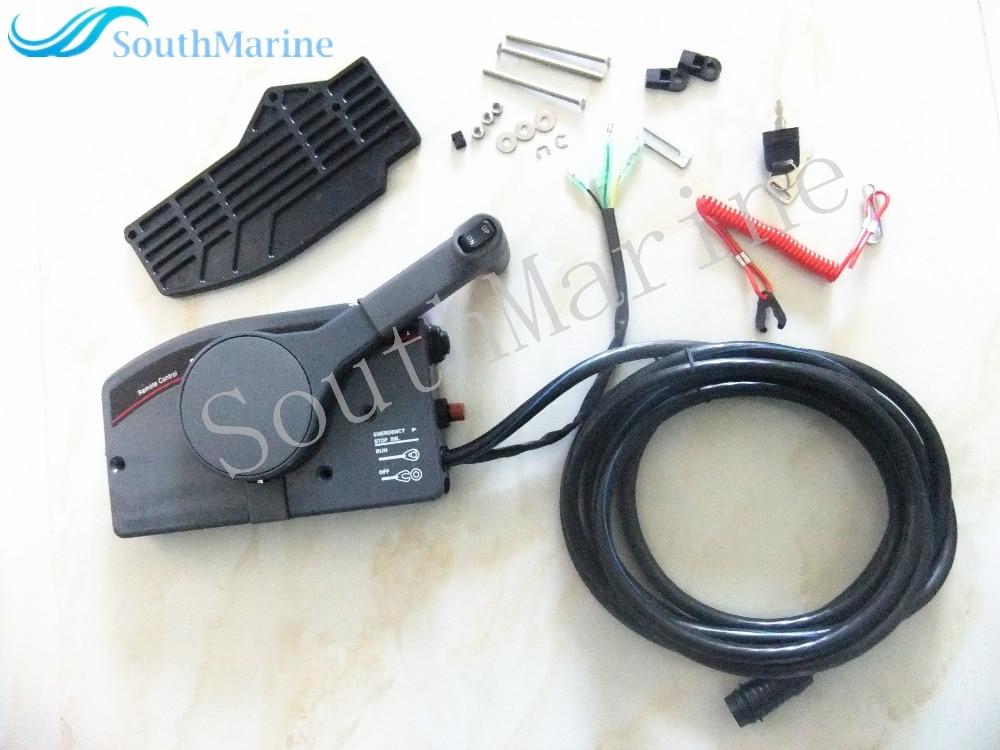 703 48207 1A 10/11 пульт дистанционного управления 10 P для Yamaha подвесных моторов Рулевая Система 703 48205 16 00 Shifter, правая рука