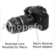 Amopofo 49mm a 77mm Anel Adaptador de Lente Reverso Macro Para Olympus 4/3 OM-D E-M1 E-M5 E-PL6