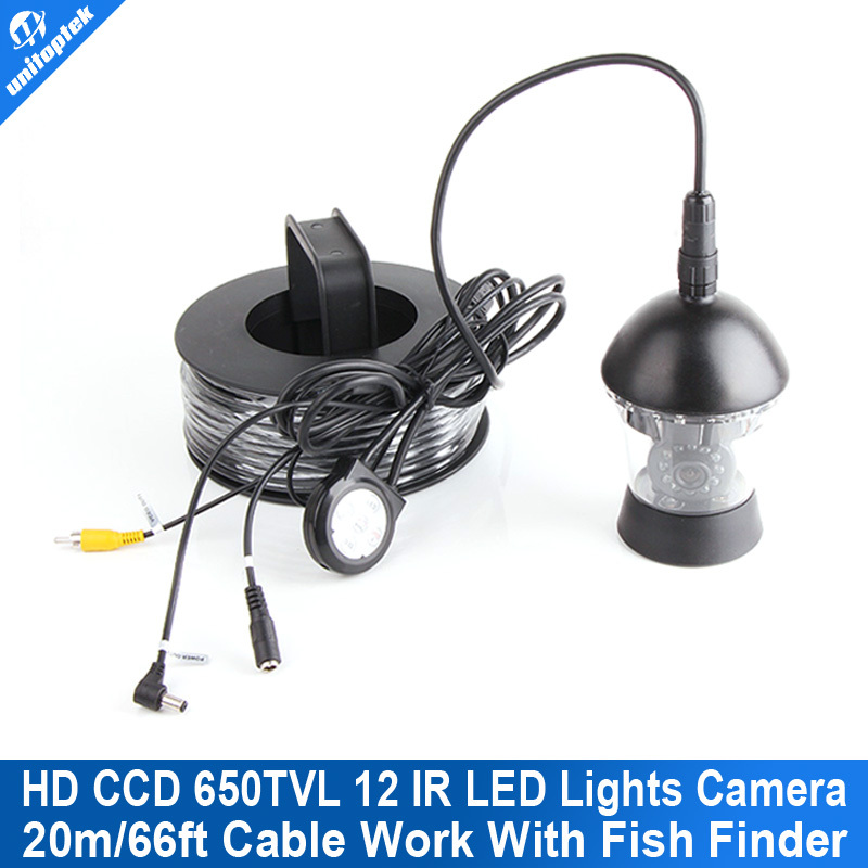 Only 20m Cable + CCD 650TVL Rotate 360 Degree 12 White Leds Waterproof Camera For Underwater Fishing Camera System Fish Finder 20m cable underwater fishing camera fish finder with 1 3 sony ccd effio e 12pcs white leds camera night vision rotate 360 degree