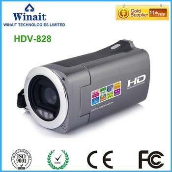 Winait 2017 popular HDV-828 digital video camera with 4x digital zoom Video Record LED Light Lower Battery Warning