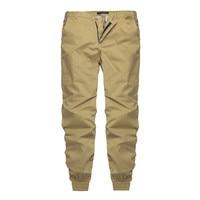 INCERUN 2017 Plaine Pantalon Hommes 100% Coton Casual chinos Pantalon Joggeurs pantalons de Survêtement Slim Fit Homme Chinos Pantalon Avec Élastique Manchette