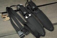 Американский Десантник Нож Выживания Обертывание Ног Рулевой Талия Ножи Фиксированным Лезвием Прямой Нож для Тактических Охота
