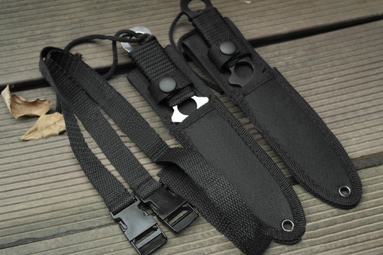 American Paratrooper Survival Knife Leg Wrapping Tie Waist Knives Fixed Blade Straight Knife for Tactical Hunting