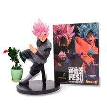 18 cm Anime Dragon Ball Z Super Goku Black Zamasu Son Goku FES PVC Action Figure Doll Model Toy Christmas Gift For Children