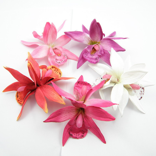 100 stà cke weià e orchidee blume haarspange braut hawaii party
